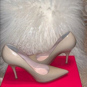 Kate Spade patent leather 4 inch heel nude pump